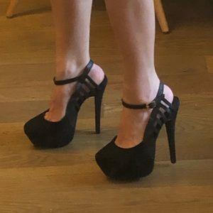Sexy Topshop 6 inch stilletos suede leather heels